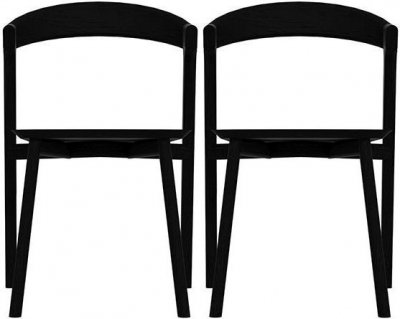 Ethnicraft Oak Bok Black Dining Chair (Pair)