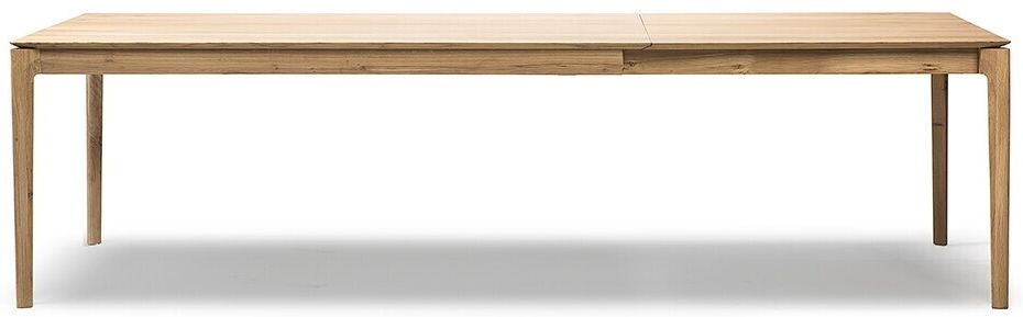 Ethnicraft Oak Bok Rectangular Extending Dining Table