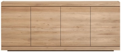 Ethnicraft Oak Burger 4 Door Sideboard