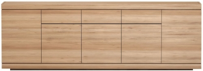 Ethnicraft Oak Burger 5 Door 3 Drawer Sideboard