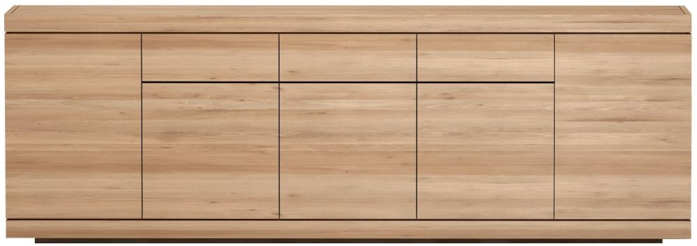 Ethnicraft Oak Burger 5 Door 3 Drawer Sideboard