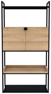 Ethnicraft Oak Cell 2 Door Large Unit Storage Cupboard