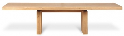 Ethnicraft Oak Double Extending Dining Table