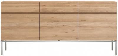 Ethnicraft Oak Ligna 3 Door 3 Drawer Sideboard
