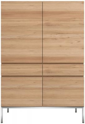 Ethnicraft Oak Ligna 4 Door 2 Drawer Storage Cupboard