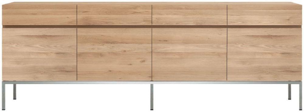 Ethnicraft Oak Ligna 4 Door 4 Drawer Sideboard