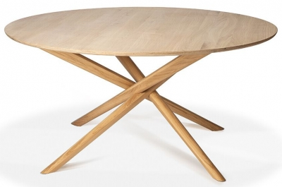 Ethnicraft Oak Mikado Round Dining Table
