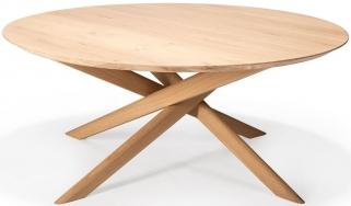 Ethnicraft Oak Mikado Oval Coffee Table