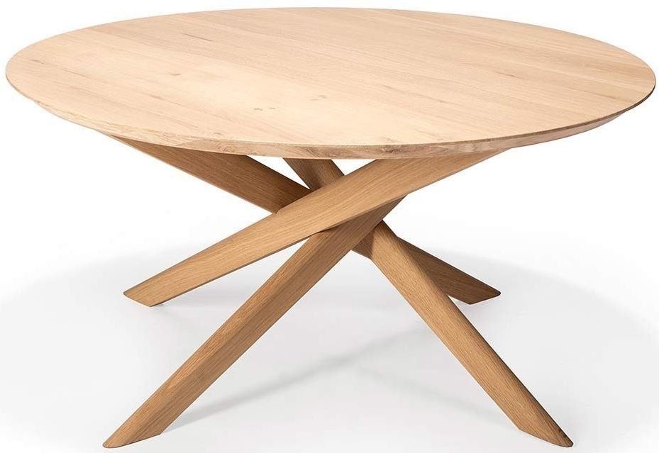 Ethnicraft Oak Mikado Round Coffee Table