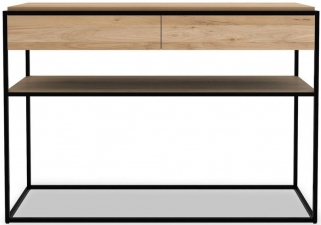 Ethnicraft Oak Monolit 2 Drawer Console Table - Black
