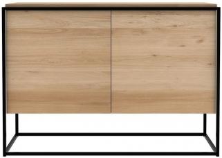 Ethnicraft Oak Monolit 2 Door Sideboard - Black