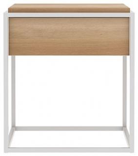 Ethnicraft Oak Monolit Small Side Table - White