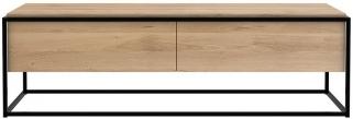 Ethnicraft Oak Monolit 1 Door 1 Drawer TV Cupboard - Black