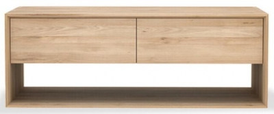 Ethnicraft Oak Nordic 1 Door 1 Drawer Small TV Cupboard