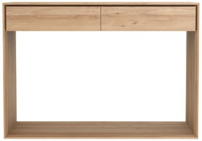 Ethnicraft Oak Nordic 2 Drawer Small Console Table
