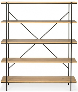 Ethnicraft Oak Rise Shelving Rack