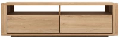 Ethnicraft Oak Shadow 2 Drawer TV Cupboard