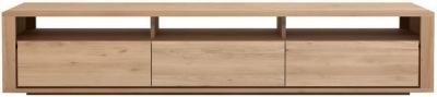 Ethnicraft Oak Shadow 3 Drawer TV Cupboard