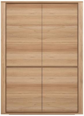 Ethnicraft Oak Shadow 4 Door Storage Cupboard