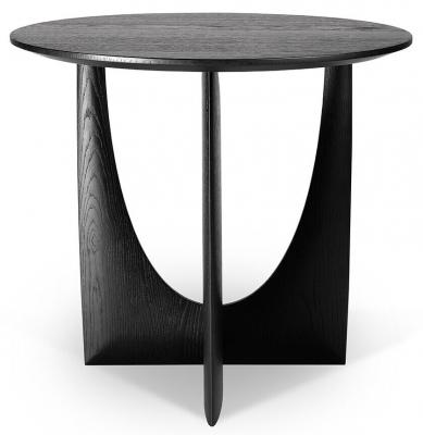 Ethnicraft Oak Geometric Black Side Table
