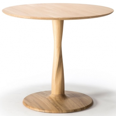 Ethnicraft Oak Torsion Round Medium Dining Table