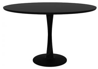 Ethnicraft Oak Torsion Black Round Large Dining Table