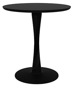 Ethnicraft Oak Torsion Black Round Small Dining Table
