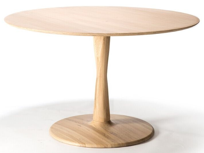 Ethnicraft Oak Torsion Round Large Dining Table