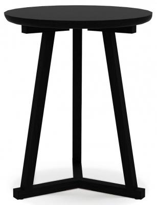 Ethnicraft Oak Tripod Black Small Side Table