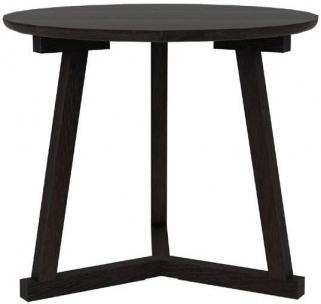 Ethnicraft Oak Tripod Black Large Side Table