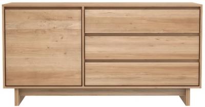Ethnicraft Oak Wave 1 Door 3 Drawer Sideboard