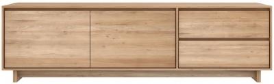 Ethnicraft Oak Wave 2 Door 1 Drawer TV Cupboard