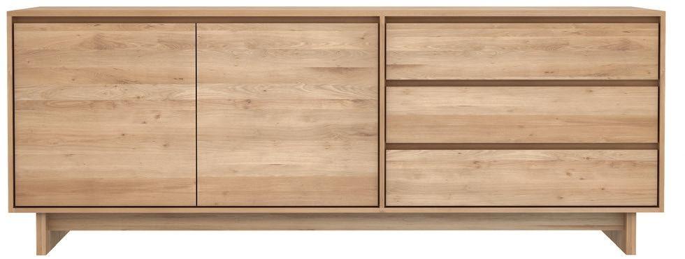Ethnicraft Oak Wave 2 Door 3 Drawer Sideboard
