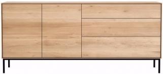 Ethnicraft Oak Whitebird 2 Door 3 Drawer Sideboard