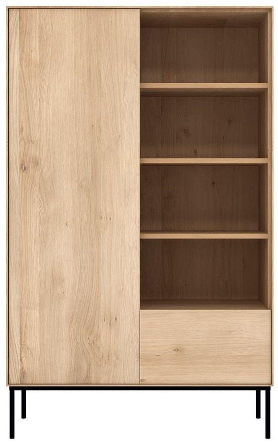 Ethnicraft Oak Whitebird 1 Door 1 Drawer Storage Cupboard