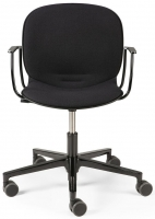 Ethnicraft RBM Noor Black Armrest Office Chair
