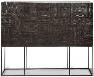 Ethnicraft Teak Ancestors Tabwa 4 Door 4 Drawer High Storage Cupboard
