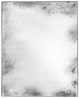 Notre Monde Clear Heavy Aged Metal Frame Wide Rectangular Mirror - 122cm