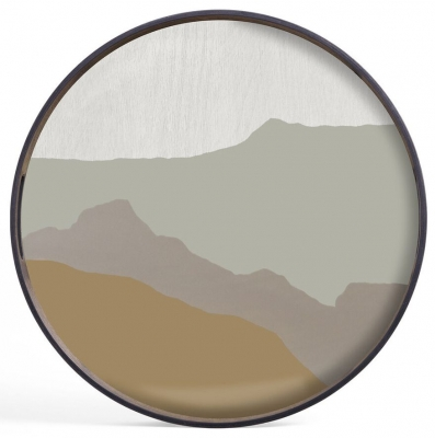 Notre Monde Sand Wabi Sabi Small Round Glass Tray