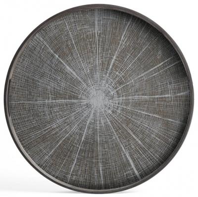 Notre Monde White Slice Small Round Driftwood Tray