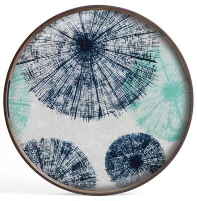 Notre Monde Umbrellas Small Round Glass Tray