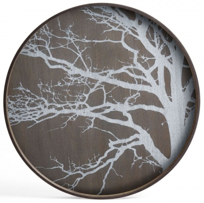 Notre Monde White Tree Large Round Driftwood Tray