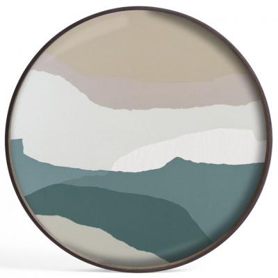 Notre Monde Slate Wabi Sabi Large Round Glass Tray