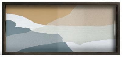 Notre Monde Slate Wabi Sabi Medium Rectangular Glass Tray
