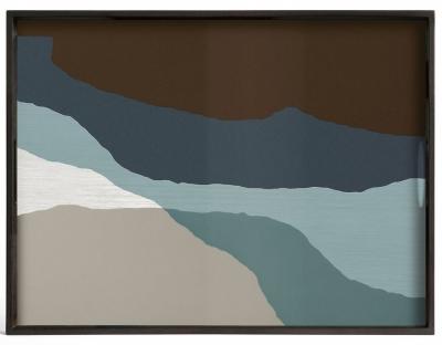 Notre Monde Graphite Wabi Sabi Large Rectangular Glass Tray