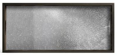 Notre Monde Frost Medium Rectangular Heavy Aged Mirror Tray