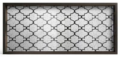 Notre Monde Bronze Gate Medium Rectangular Medium Aged Mirror Tray