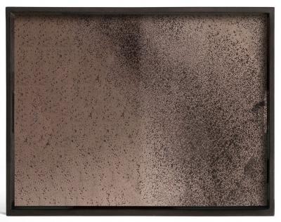 Notre Monde Bronze Large Rectangular Heavy Aged Mirror Tray