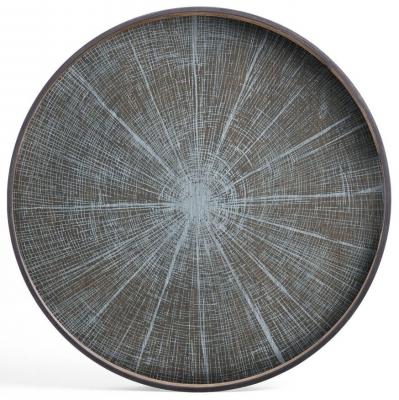 Notre Monde White Slice Extra Large Round Driftwood Tray