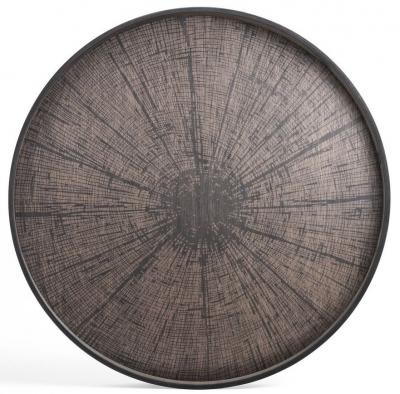 Notre Monde Black Slice Extra Large Round Driftwood Tray